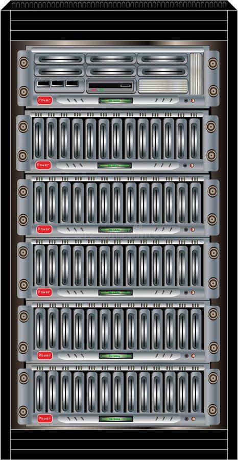 Gabinete do server do computador ilustração royalty free
