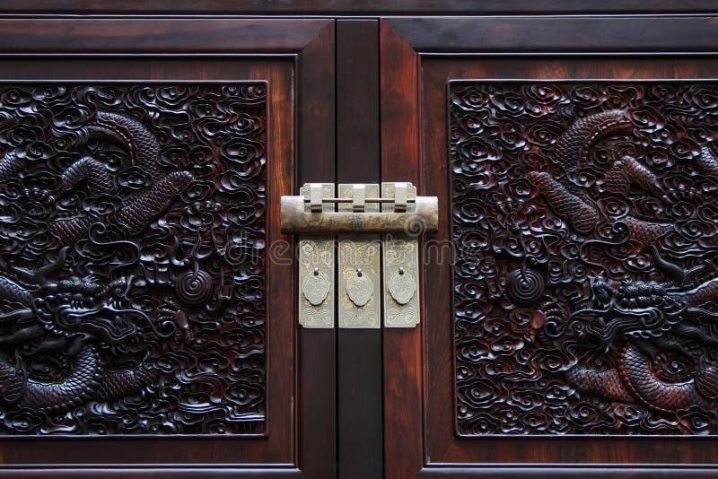 Gabinete e fechamento chineses foto de stock