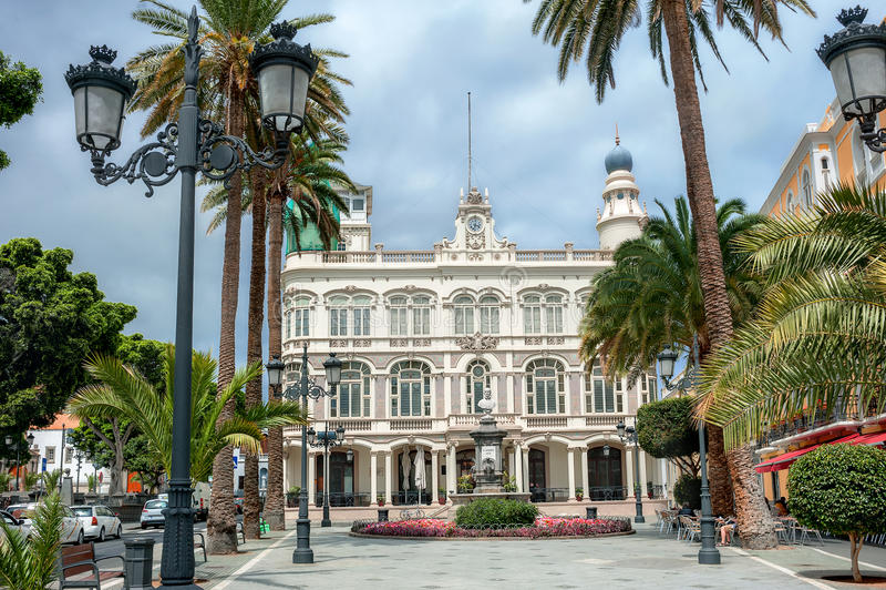 Gabinete Literario Las Palmas, Gran Canaria, Hiszpania fotografia stock