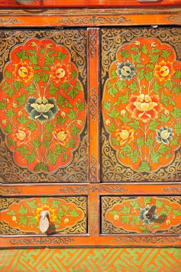 Gabinete velho chinês imagens de stock royalty free