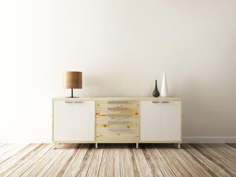 Gabinete y accesorio del interior adornados libre illustration