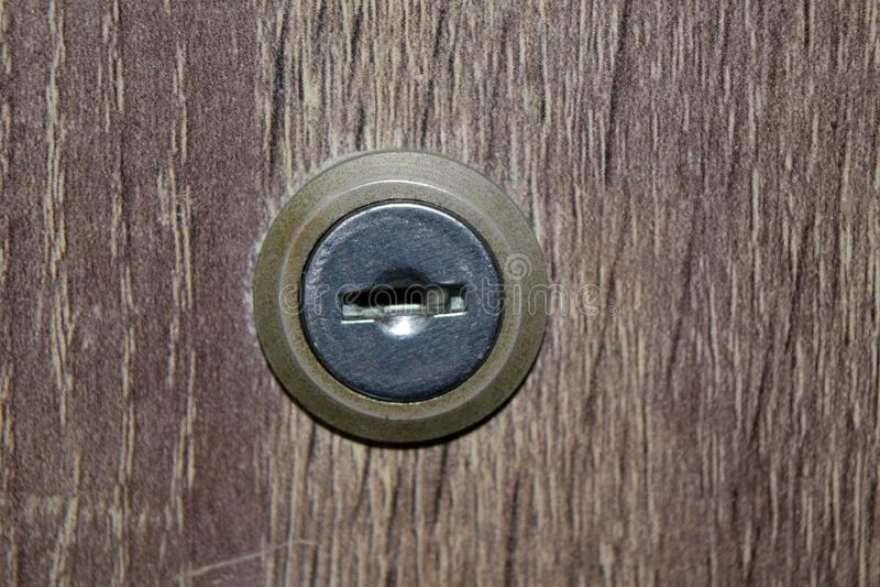 Gabinetowy kędziorka keyhole zdjęcia stock