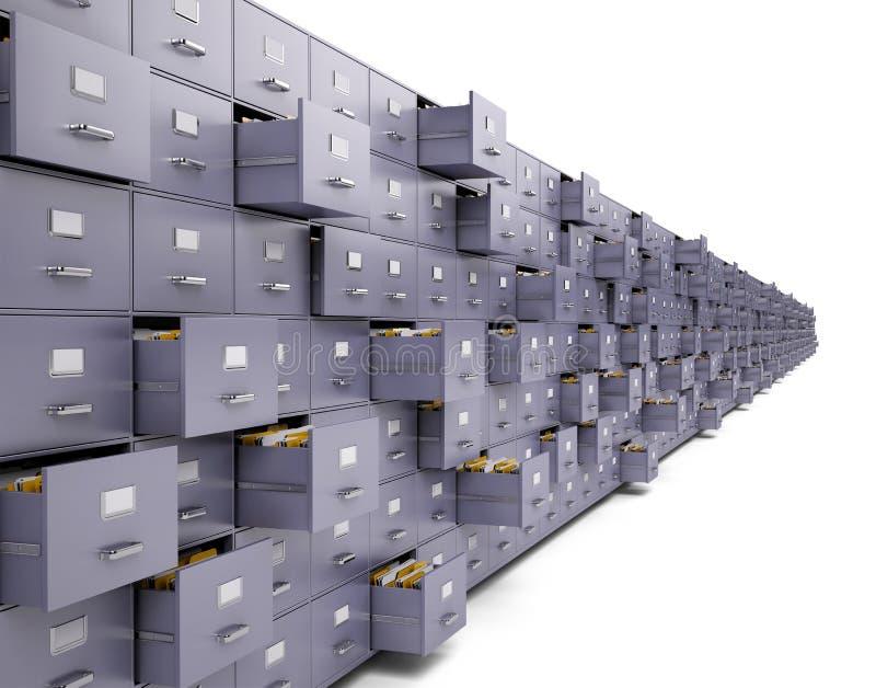 Gabinetti di archivio illustrazione vettoriale