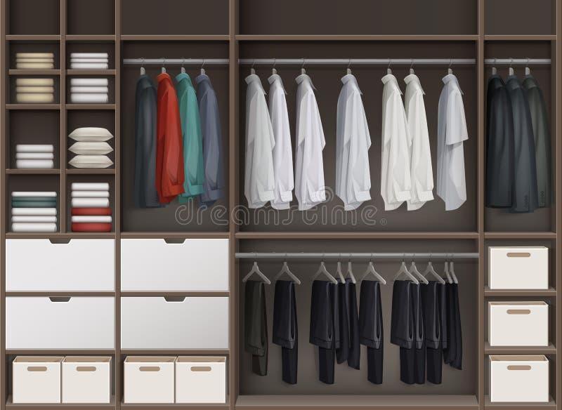 Gabinetto del guardaroba di vettore illustrazione di stock