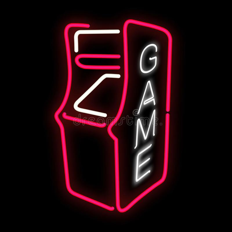Gabinetto del videogioco arcade illustrazione di stock