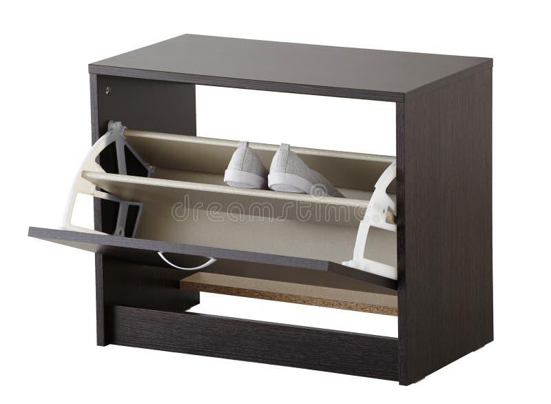 Gabinetto della scarpa isolato su bianco fotografia stock libera da diritti