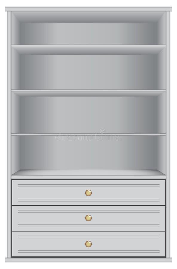Gabinetto di stoccaggio bianco illustrazione vettoriale