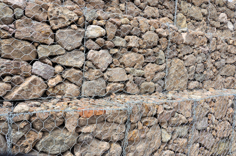 Download Gabion Wall stock image. Image of build, cage, rocks - 21978203