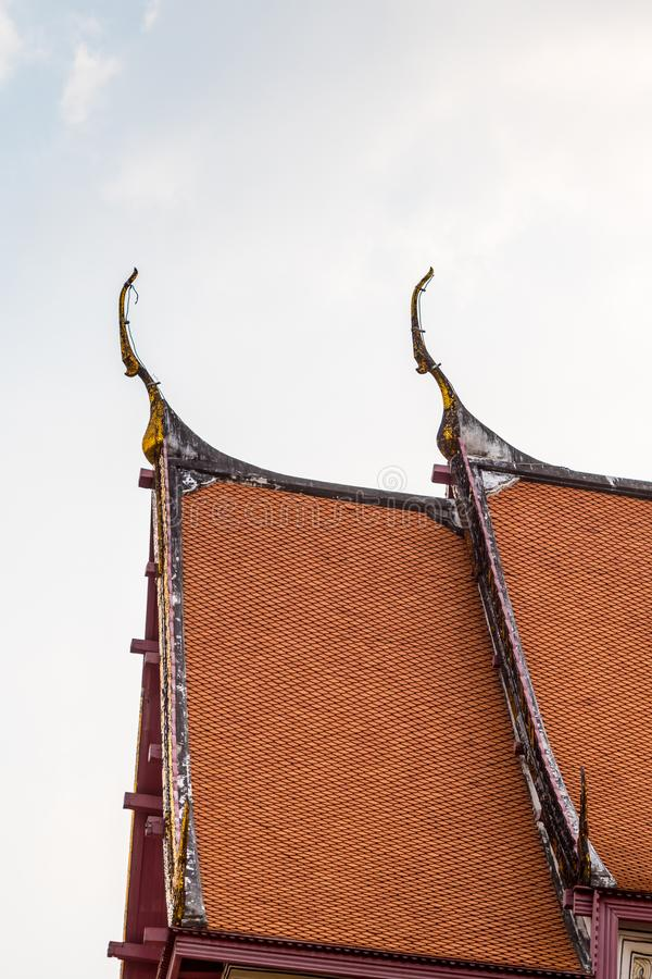 Gable Apex And Moon Thailand Stock Photo Image Of