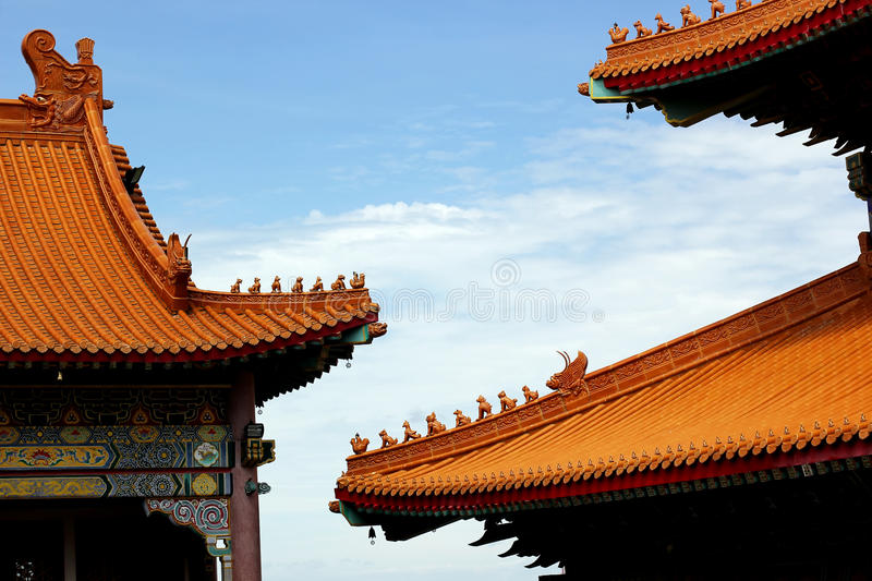 Gable roof. In chinese style stock photo