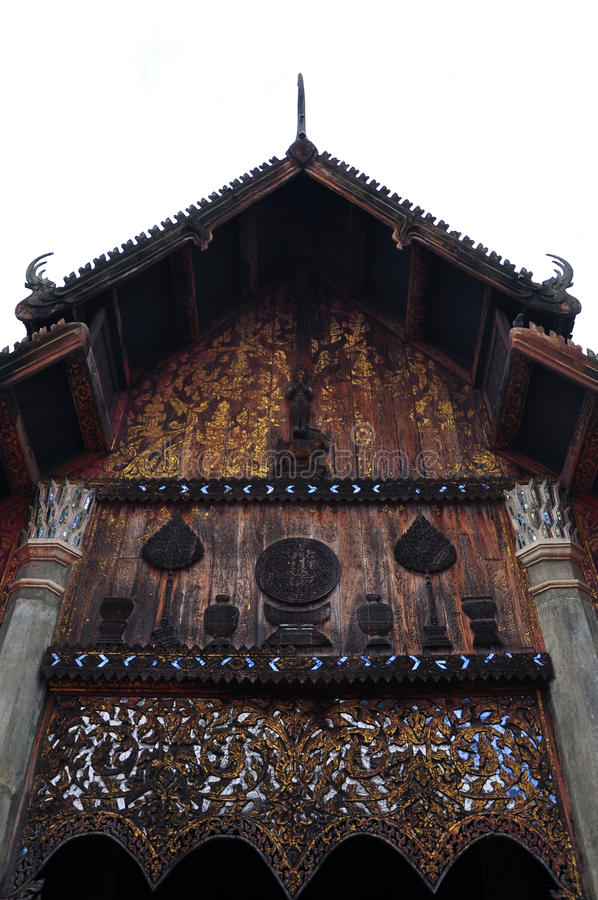 Download Gable Roof Of The Thai Church Stock Image - Image: 24417967