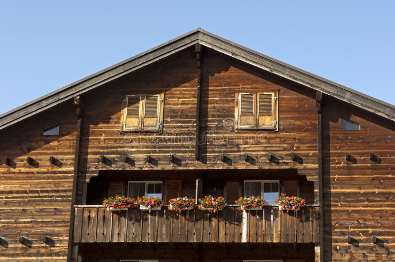Gable Of A Traditional Swiss Chalet Royalty Free Stock Photography
