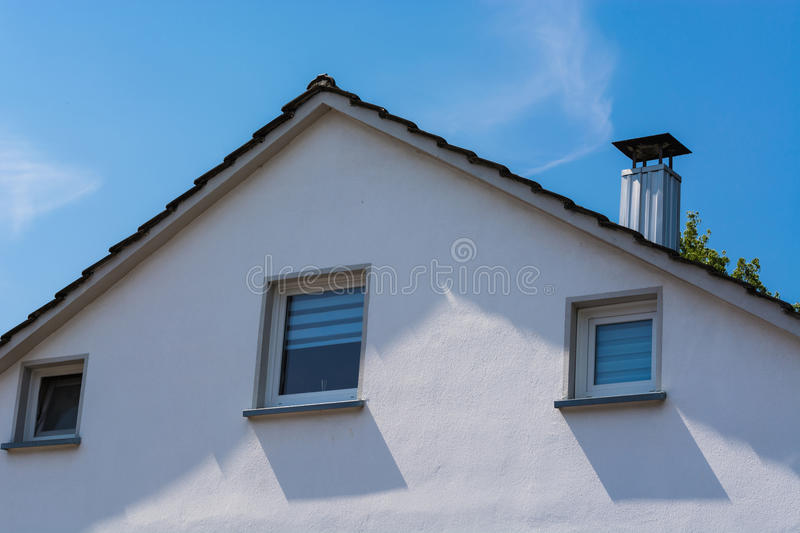 Gable view of a multi-family house royalty free stock images