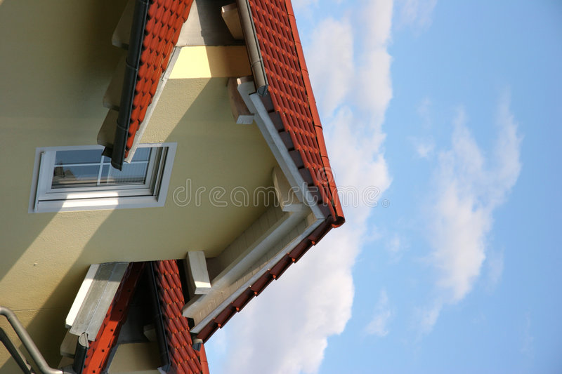 Gable with window stock images