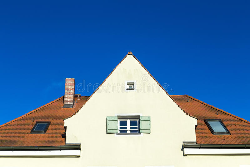 Gable with windows stock image
