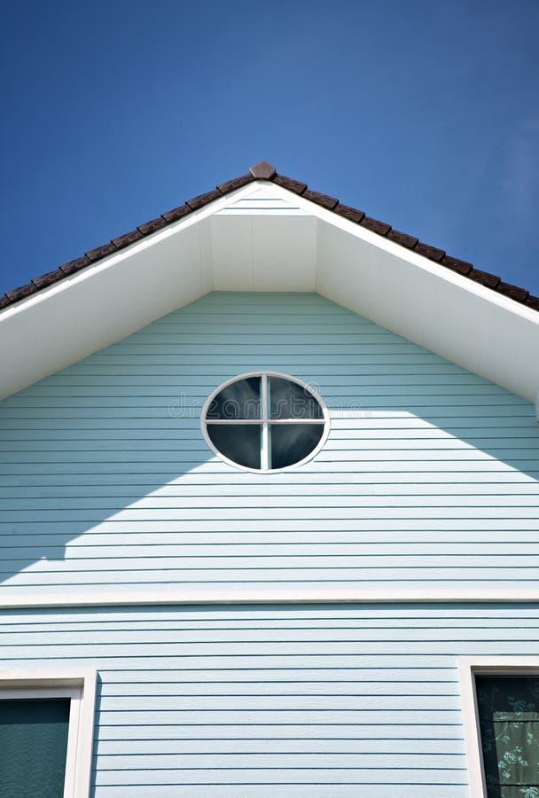 Triangular roof stock image