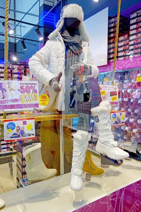 Gabloty wystawowej mannequin w moda sklepie fotografia stock