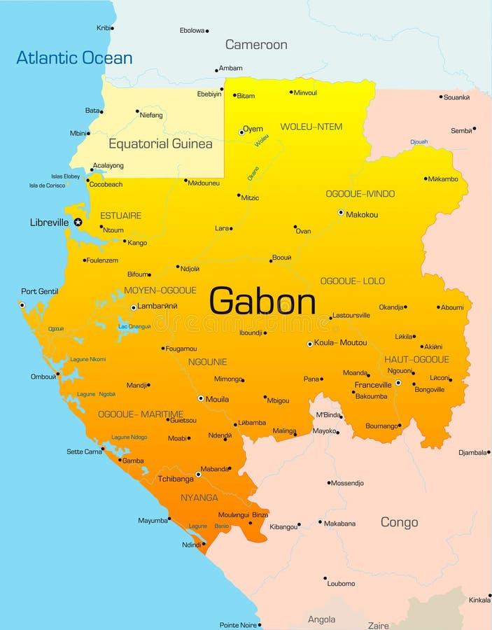 Gabon vektor illustrationer
