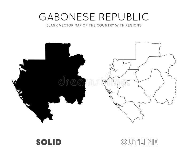 Gabon mapa ilustracja wektor