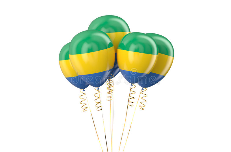 Gabonese Republic patriotic balloons holyday concept. Gabonese Republic patriotic balloons, holyday concept isolated on white background vector illustration