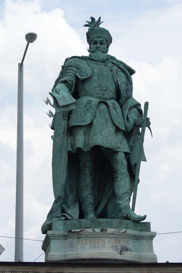 Gabor Bethlen - Heroes Square - Budapest. Gabor (Gabriel) Bethlen - Hosok Tere (Heroes Square) - Budapest stock photo
