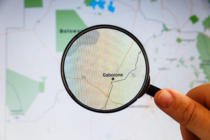 Gaborone, Botswana correspondencia pol?tica imagenes de archivo