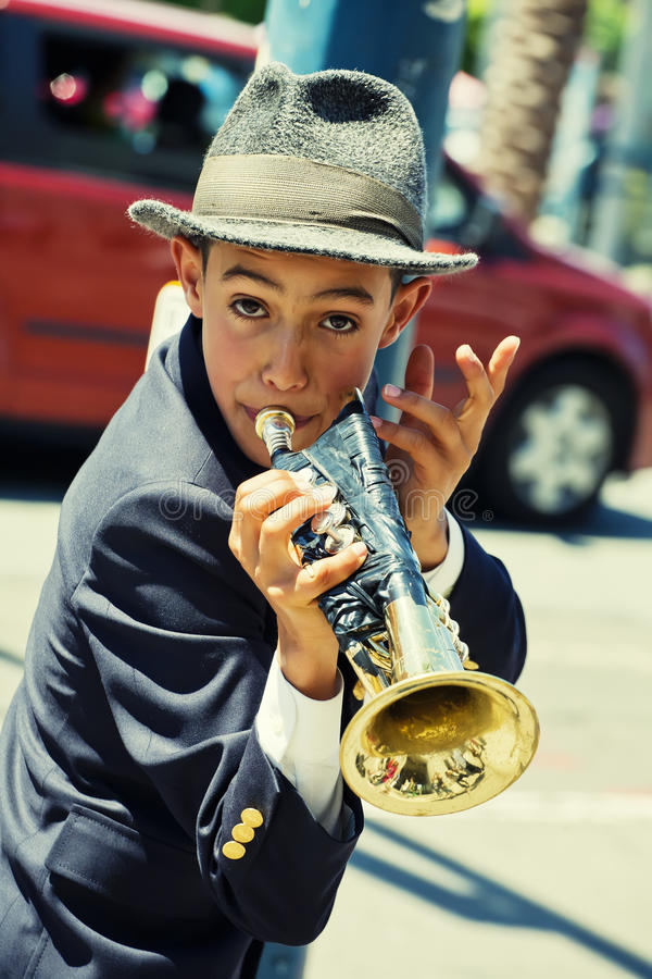 Download Gabriel Angelo, Trumpet Player, Street Performer Editorial Stock Photo - Image: 26461703