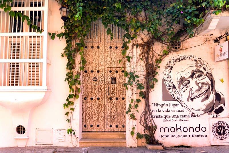 Gabriel Garcia Marquez Graffiti imagenes de archivo