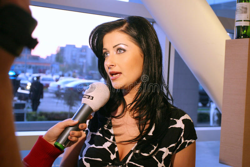Gabriela Cristea. (n.26 1974 Olteniţa) is a television presenter and TV filmmaker, currently working on the station Kanal D. Cristea started on TVR 1 in 1994 stock images