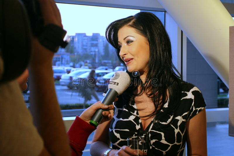 Gabriela Cristea. (n.26 1974 Olteniţa) is a television presenter and TV filmmaker, currently working on the station Kanal D. Cristea started on TVR 1 in 1994 stock photography