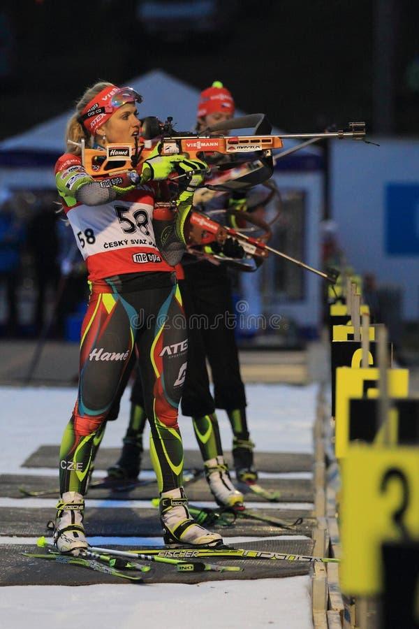 Gabriela Soukalova - τσεχικό biathlon στοκ εικόνες