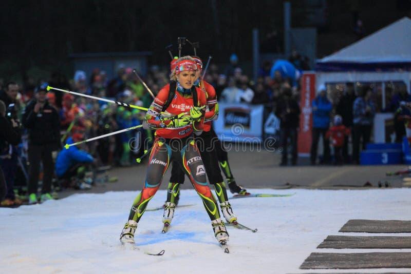 Gabriela Soukalova - biathlon royaltyfri fotografi