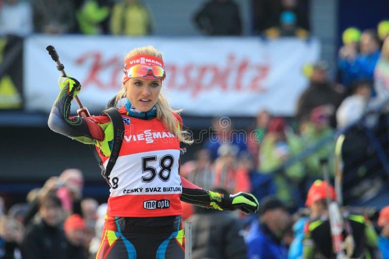 Gabriela Soukalova - Biathlon Redactionele Afbeelding