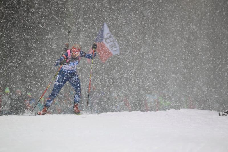 Gabriela Soukalova - coupe du monde dans le biathlon images stock