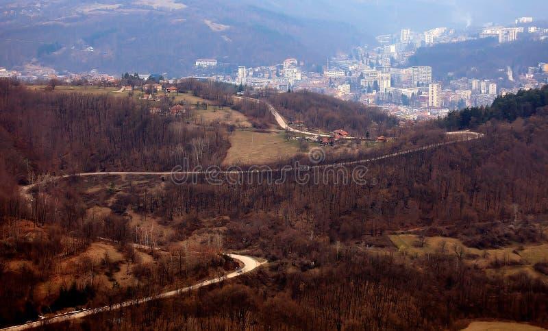 Gabrovo panoramic view stock photo