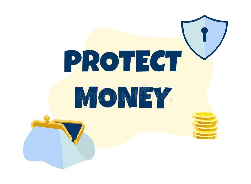 Gacenie pieniądze Promocyjny tekst na Reklamowym sztandarze ilustracji