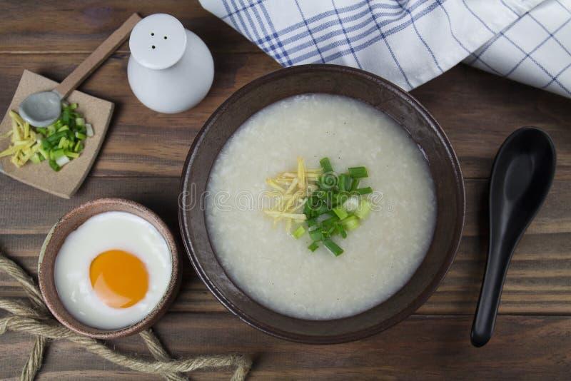 Gachas de avena del arroz fotografía de archivo libre de regalías