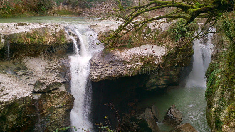 Gachedili kanjon (den Martvili kanjonen) i Georgia arkivfoton