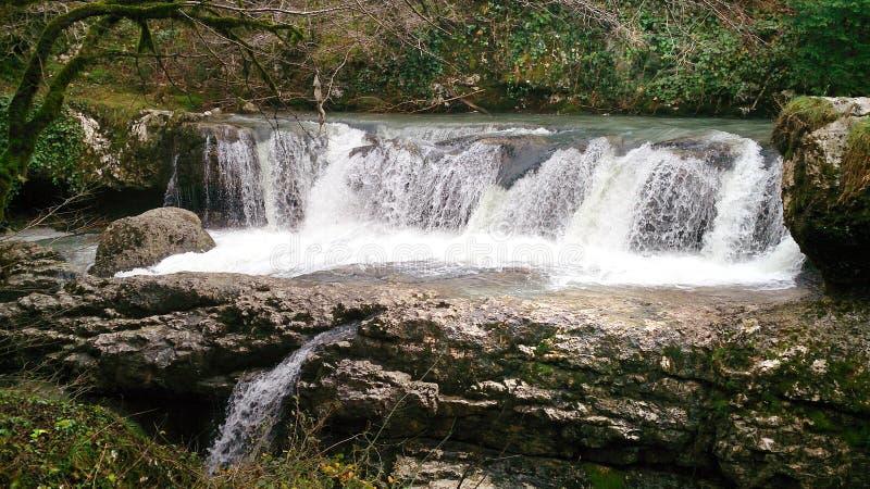 Gachedili (Martvili) kanjon i Georgia royaltyfri foto