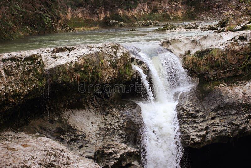 Gachedili (Martvili) kanjon i Georgia arkivbild