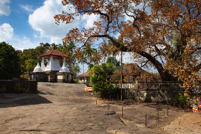 Gadaladenyia Vihara es un templo budista antiguo, Sri Lanka foto de archivo libre de regalías