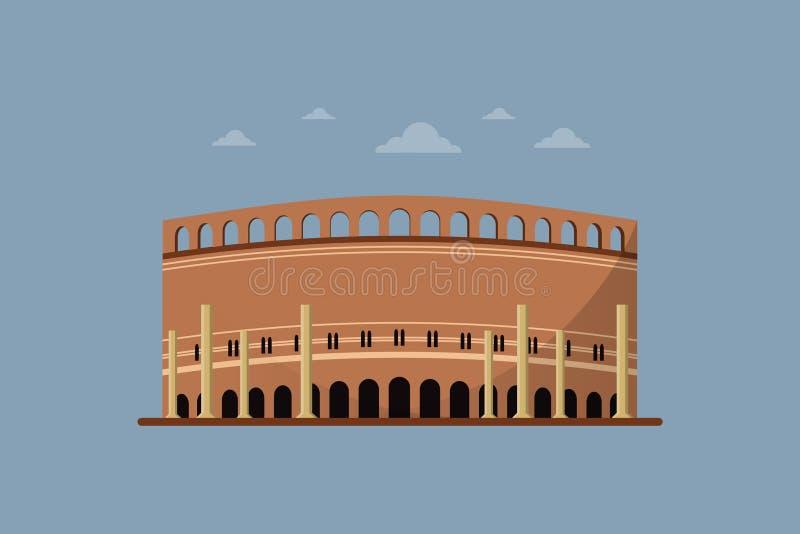 Gaddafi stadium Lahore Pakistan - Wektorowy projekt royalty ilustracja