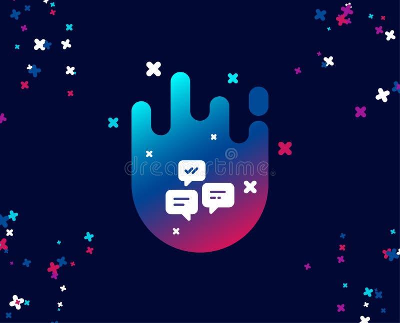 Gadek wiadomości prosta ikona Rozmowa lub SMS ilustracja wektor