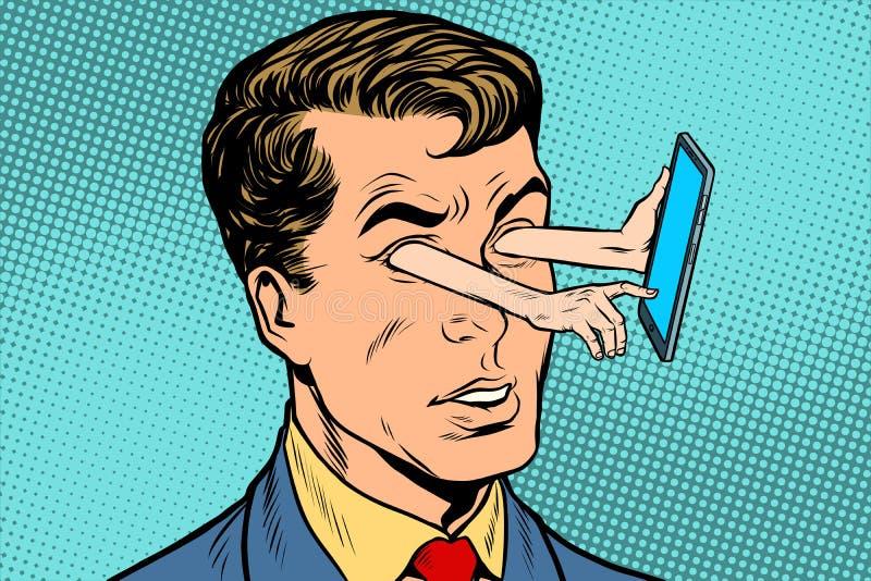 Gadget en starende blikrichting vector illustratie