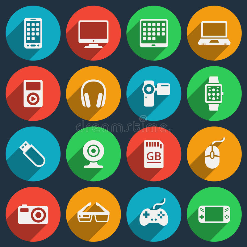 Free Gadget Icons Stock Photography - 55456592