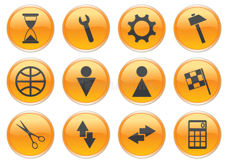 Download Gadget Icons Set. Royalty Free Stock Photo - Image: 6188345