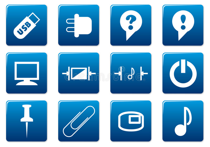 Download Gadget square icons set. stock vector. Image of device - 6238846