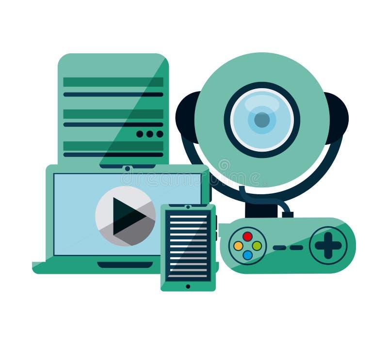 Gadget tech stock vector. Illustration of server, digital ...