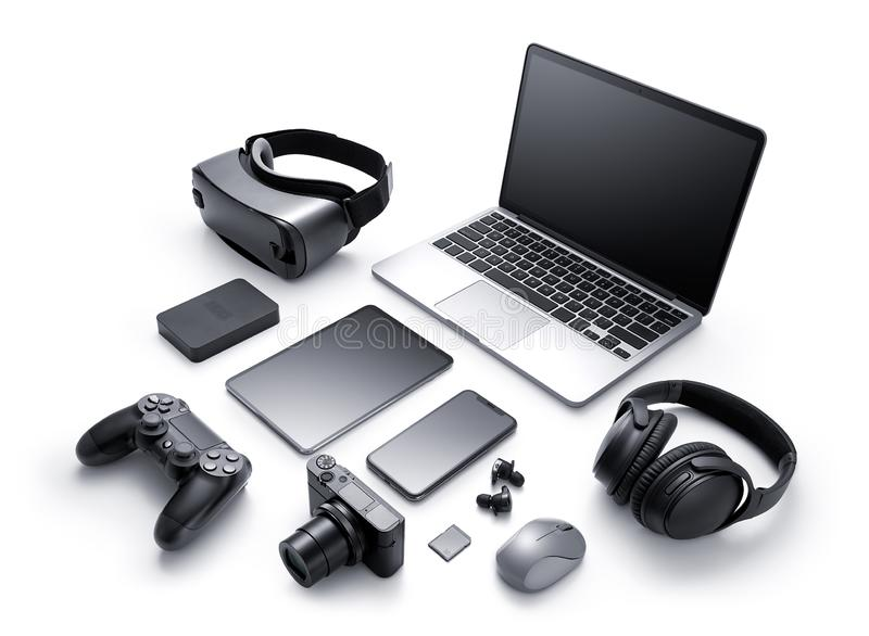 Gadgets and accessories stock images