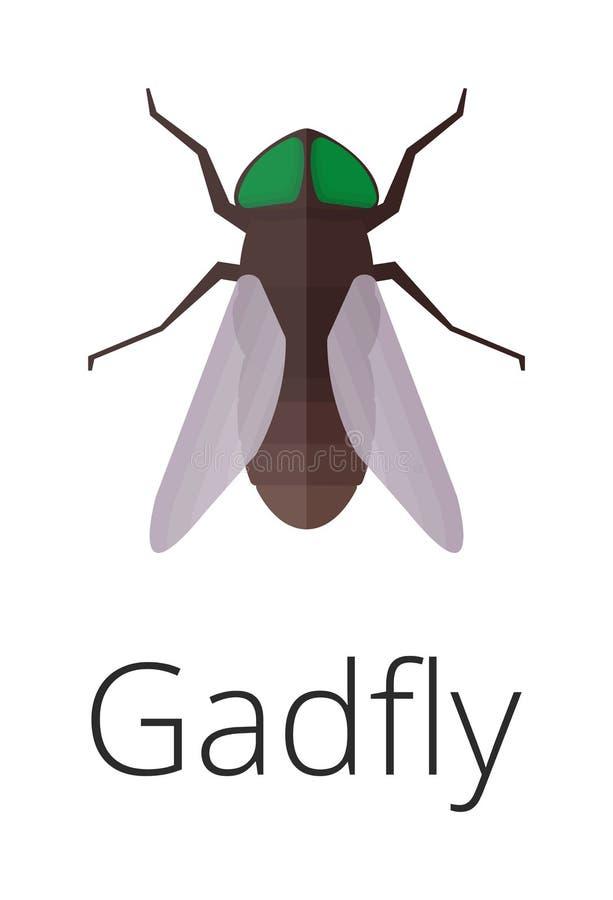 Gadgly-Hautparasit-Insektenvektorwanze stock abbildung